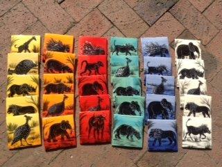 10 x10cm African animals