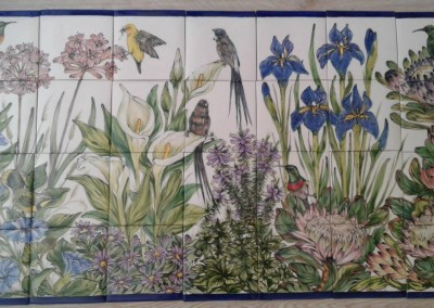 Cape birds with Iris and Proteas
