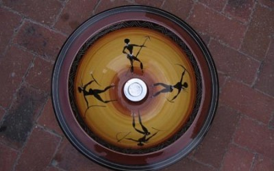 African Warriors with wide rim (46cms)