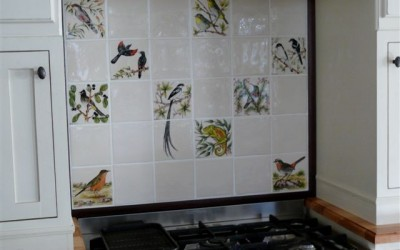 birds and natural tiles