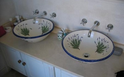 Large lavender in french farmhouse