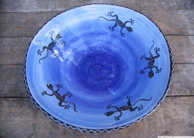 Blue Gecko Serving Bowl (40x12 cm)