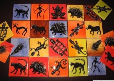 Individual African Tiles